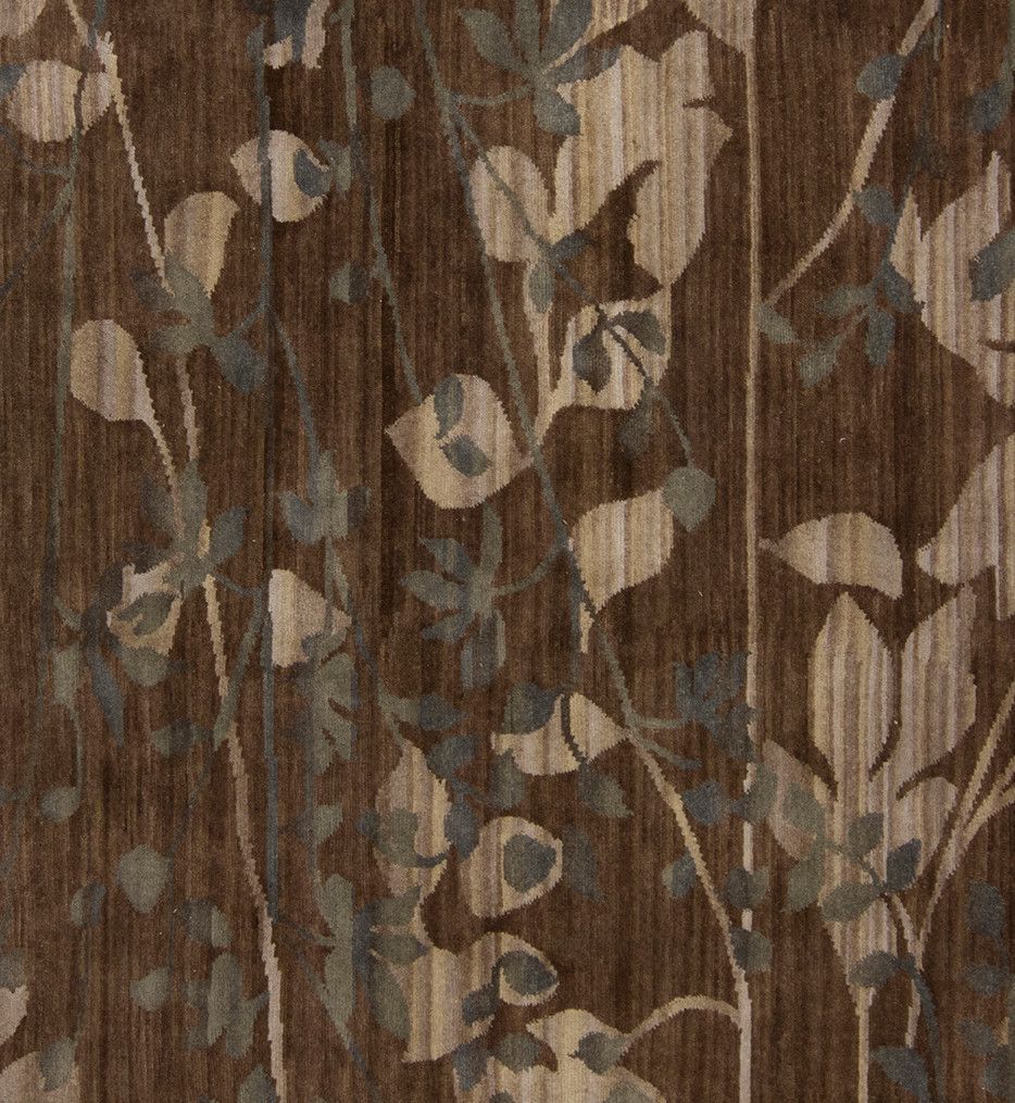 Surya - BRC1003-811 - Brocade 8' by 11' Charcoal Medallion and Damasks Hand Knotted Rug