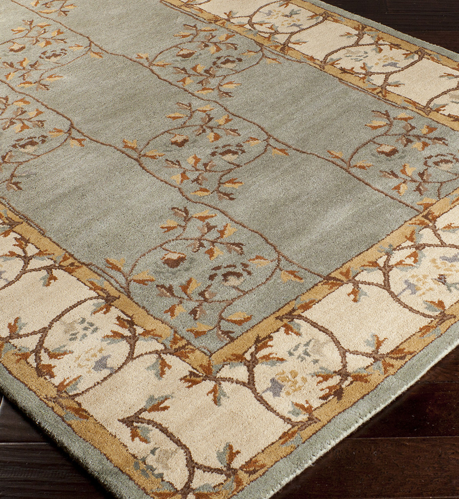 Surya - Caesar Traditional Cream Border Hand Tufted Rug