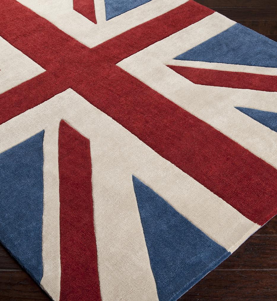 Surya - Cosmopolitan British Union Jack Hand Tufted Rug