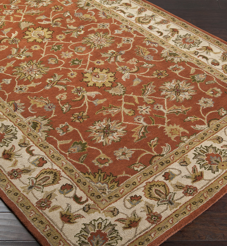 Surya - Crowne Traditional Hand Tufted Rust Rug