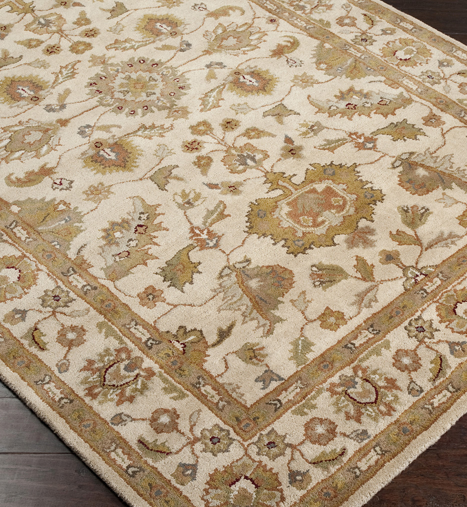 Surya - Crowne Traditional Hand Tufted Ivory Rug