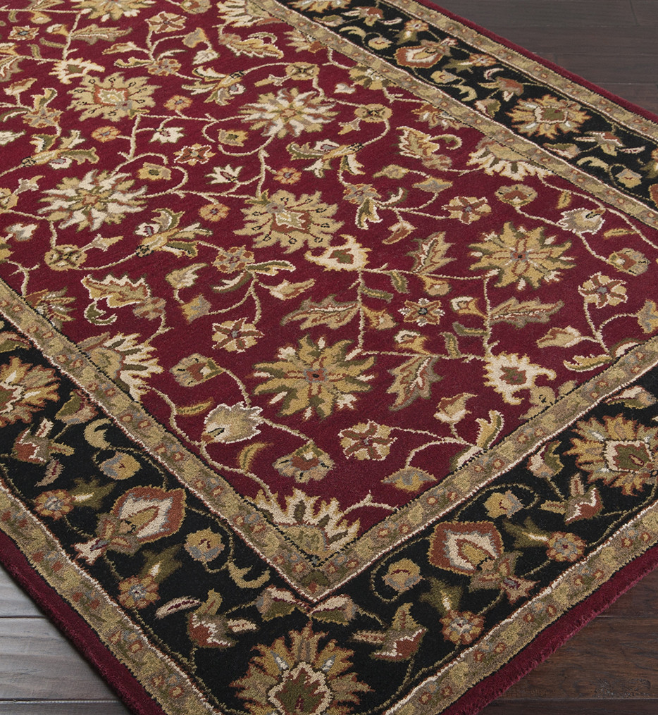 Surya - Crowne Traditional Hand Tufted Burgundy Rug