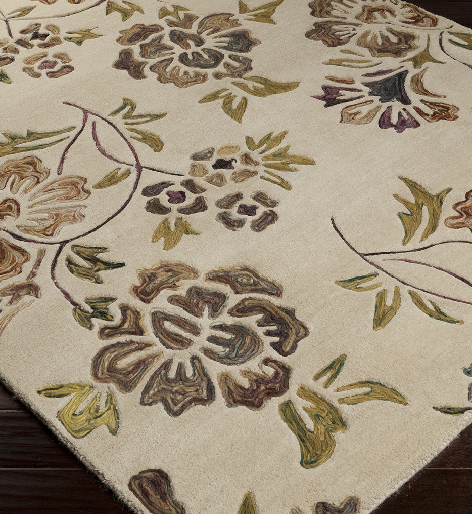 Surya - Enchanted Floral and Paisley Hand Tufted Rug