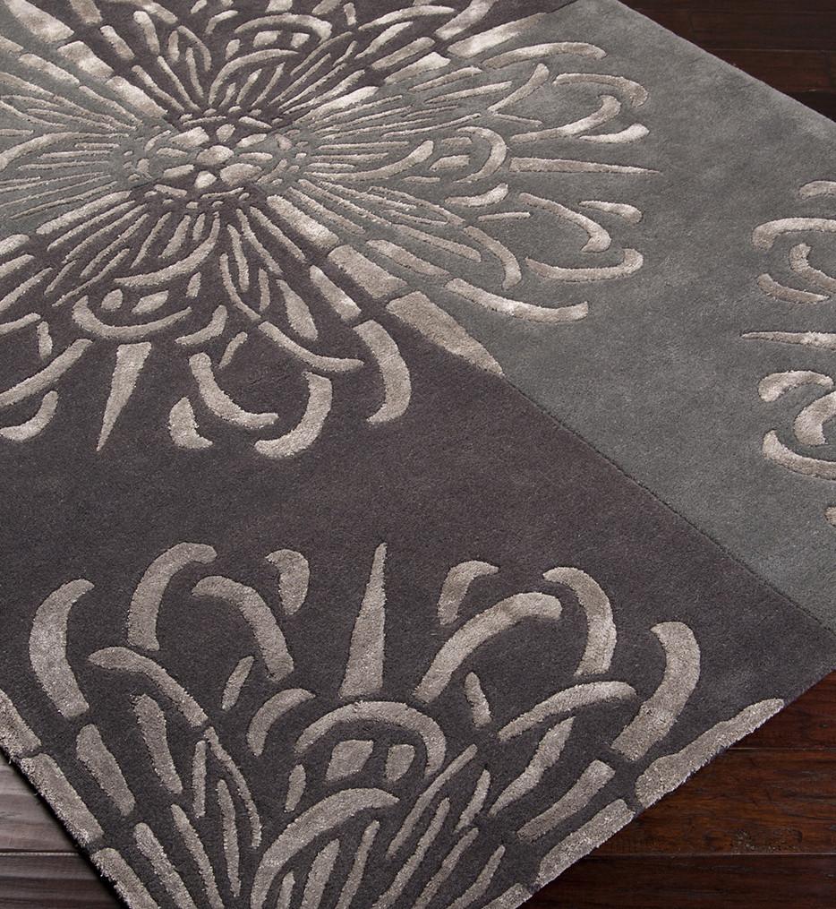 Surya - Essence Large Damask Floral Hand Tufted Rug