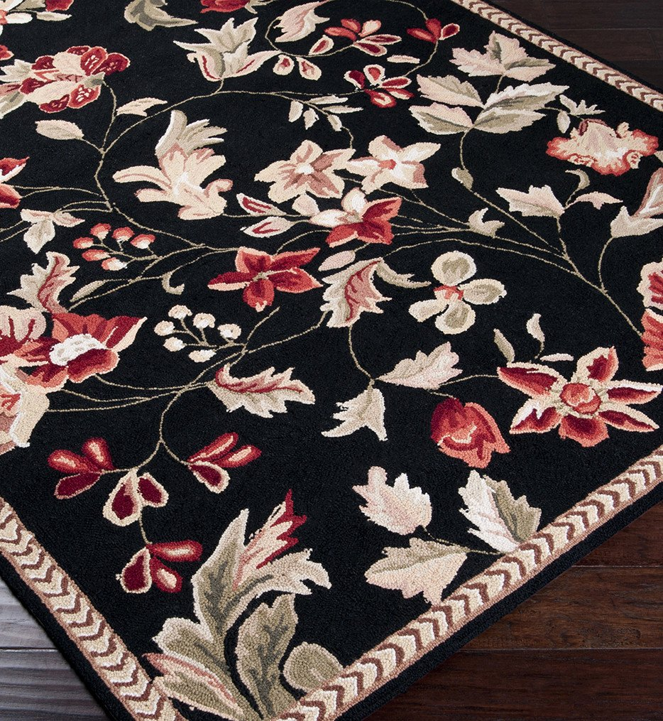 Surya - Flor Floral and Paisley Hand Hooked Rug
