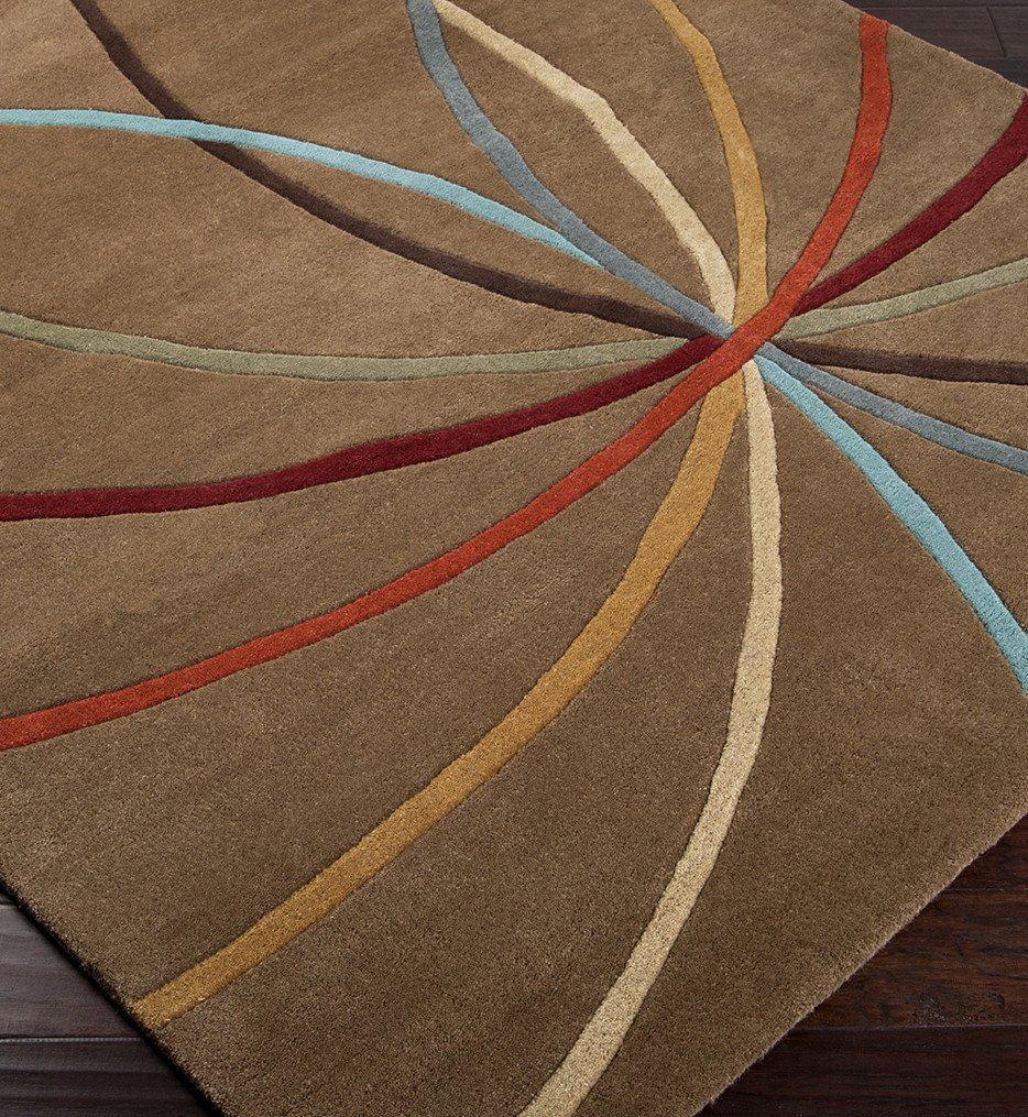 Surya - Forum Multi Color Curves Hand Tufted Rug