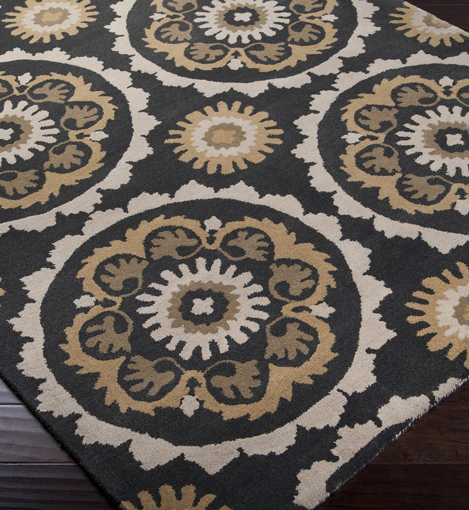 Surya - Mosaic Round Paisley Hand Tufted Rug