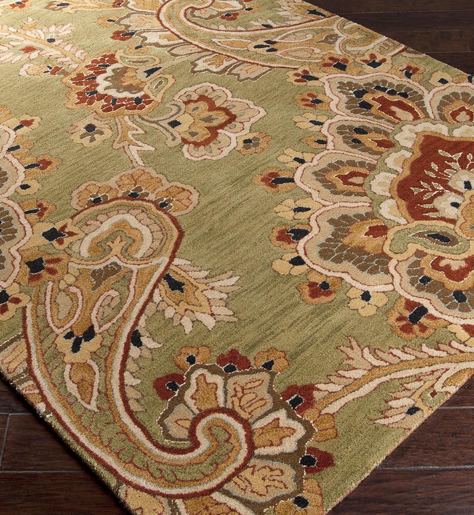 Surya - Sea Floral and Paisley Hand Tufted Rug