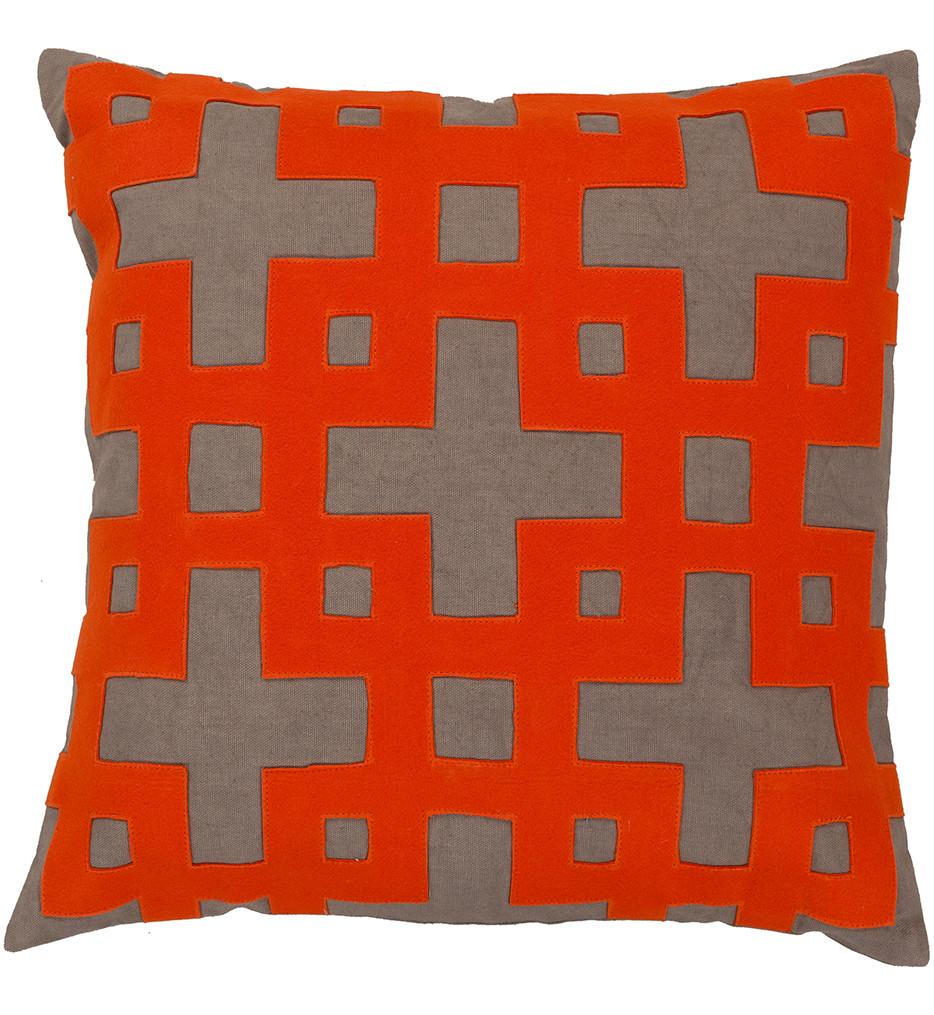Surya - Interlocking Squares Decorative Pillow