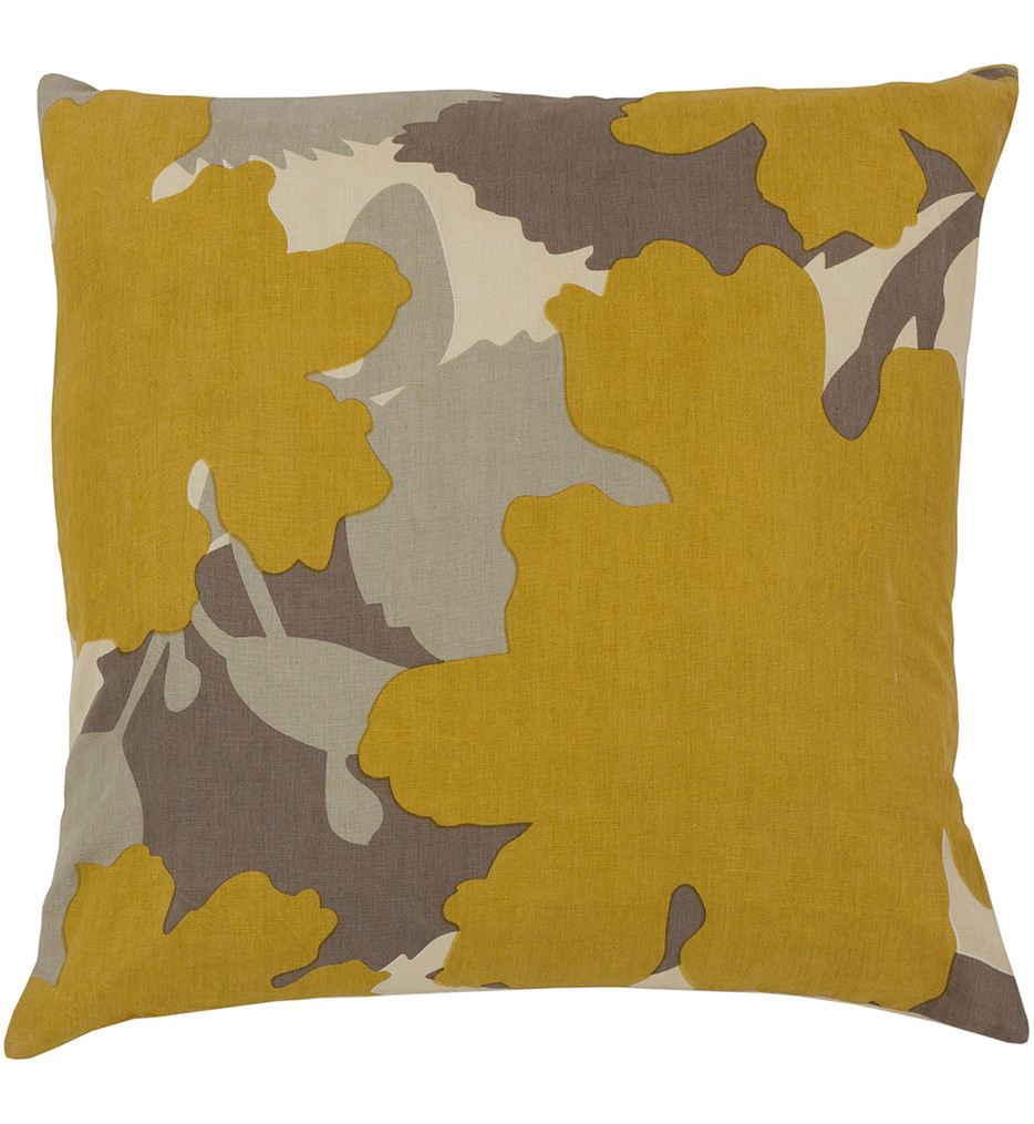Surya - Floral Paint Decorative Pillow