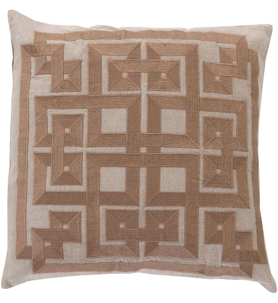 Surya - Woven Squares Decorative Pillow