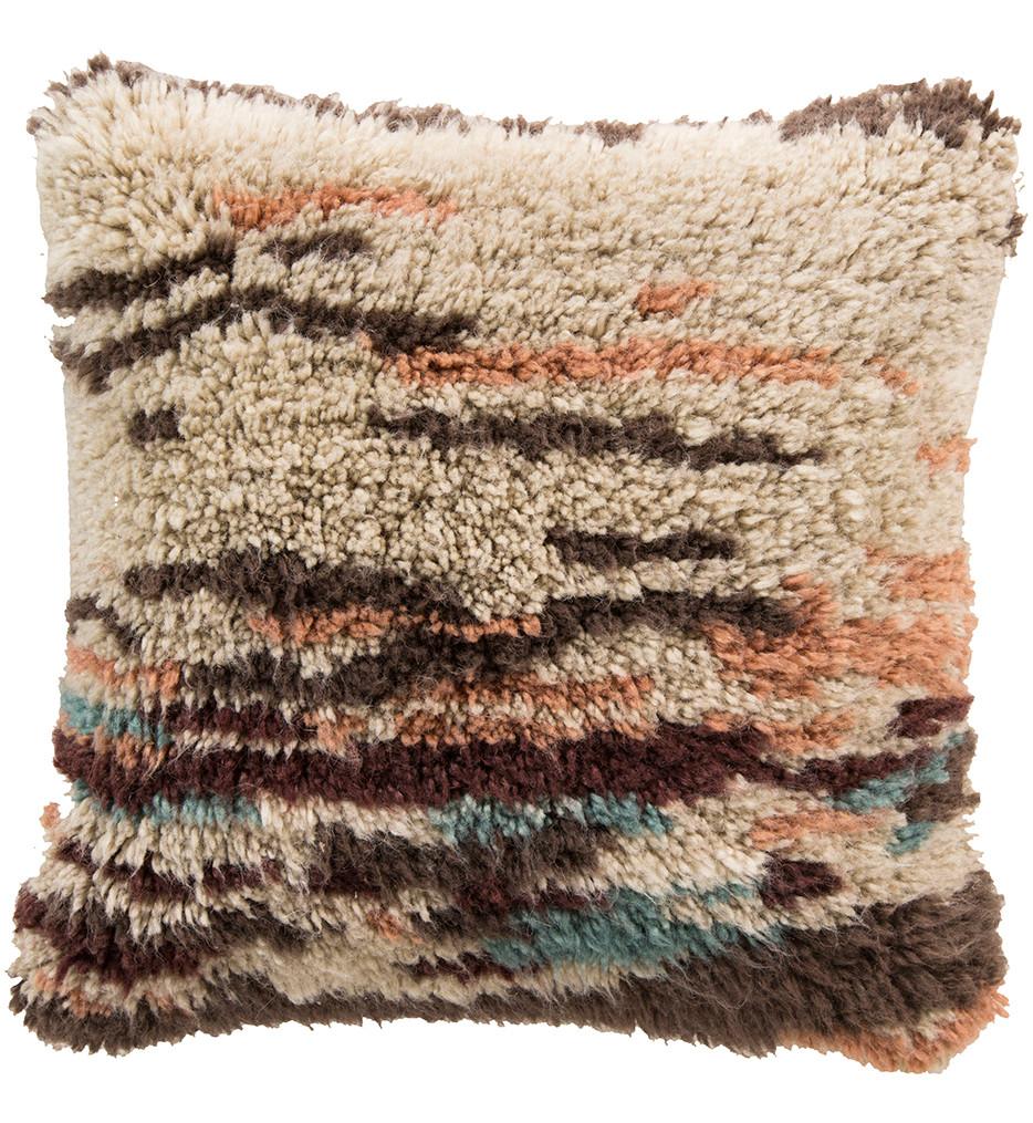 Surya - Linear Shag Decorative Pillow