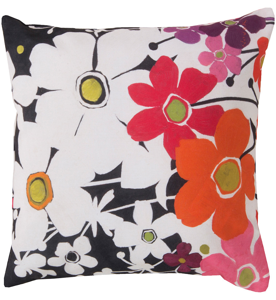 Surya - Colorful Floral Decorative Pillow