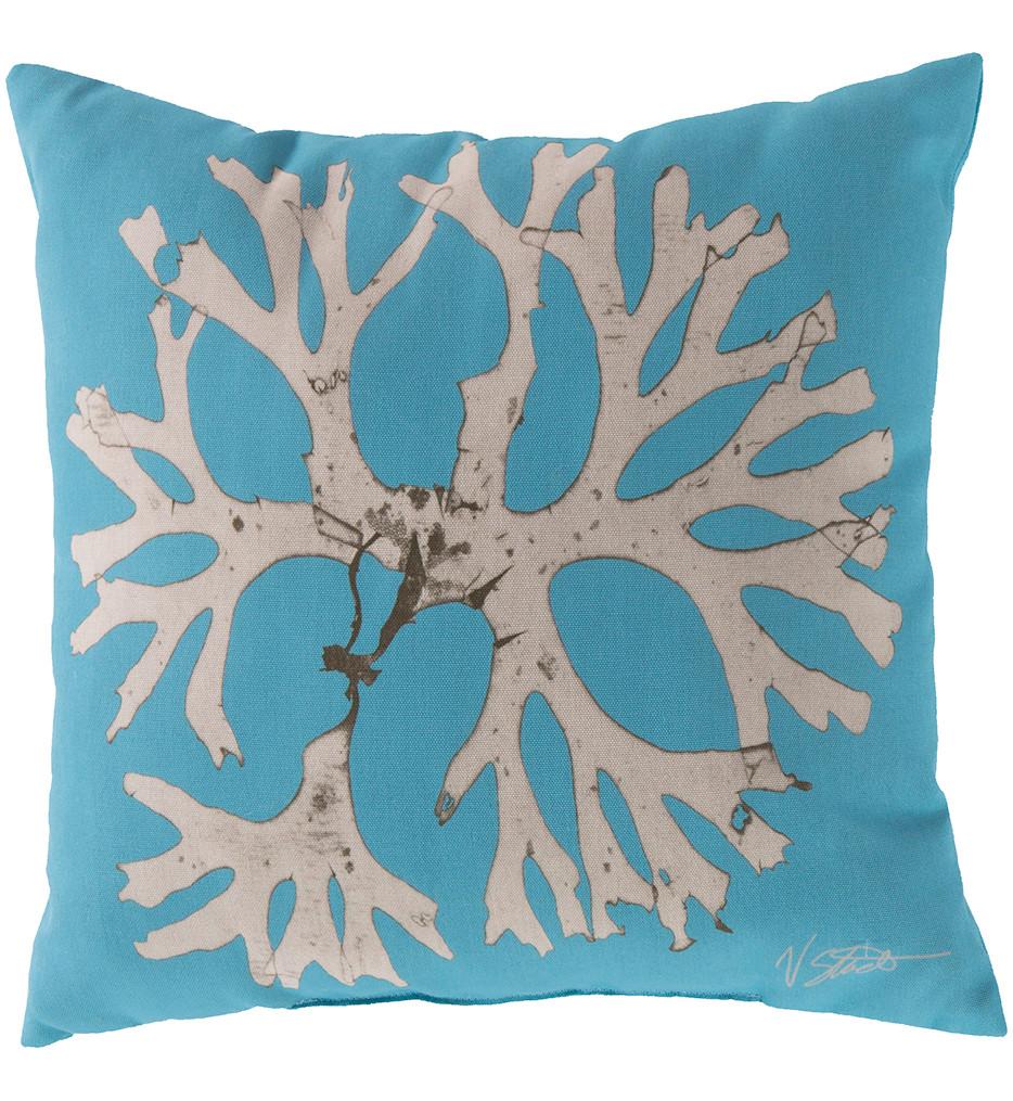 Surya - Circular Coral Decorative Pillow