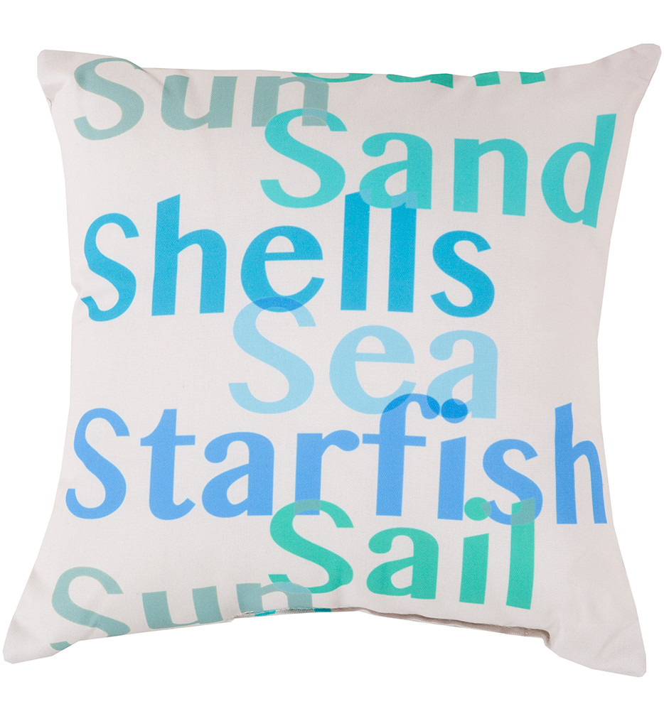 Surya - Beachgoers Decorative Pillow