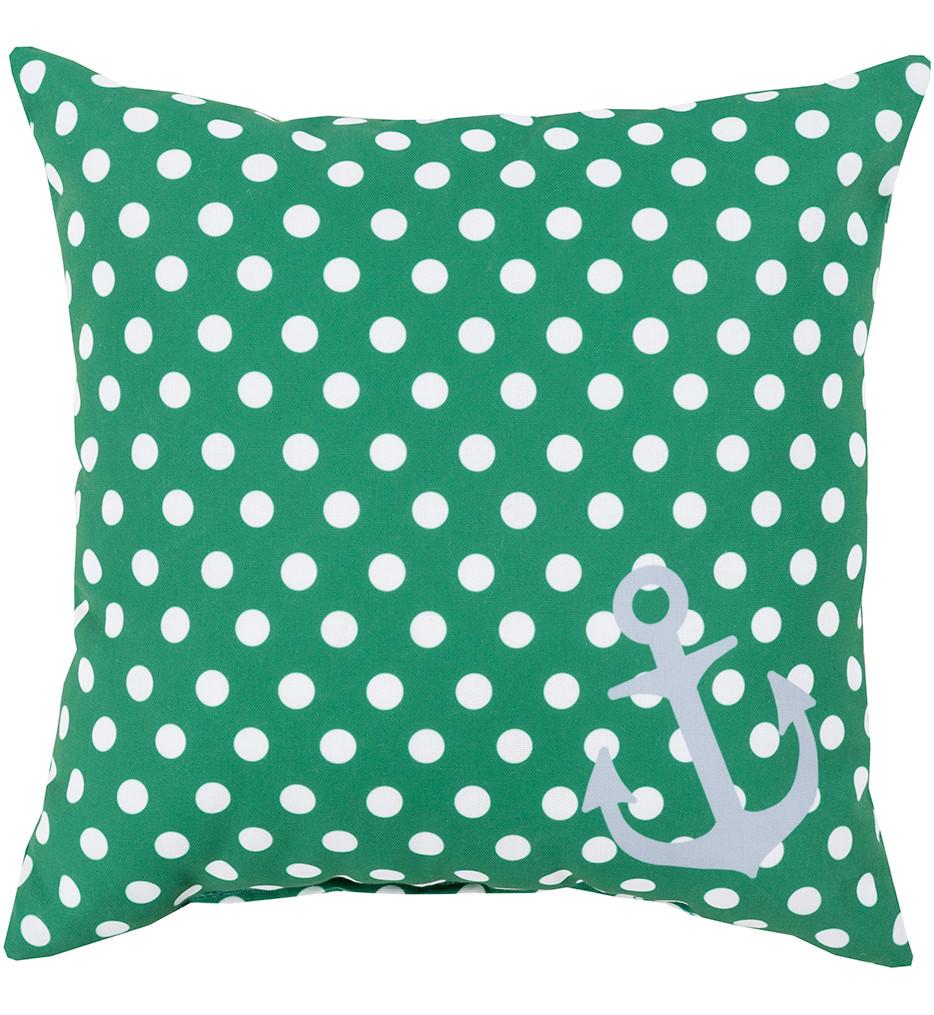 Surya - Polka Dot Anchor Decorative Pillow