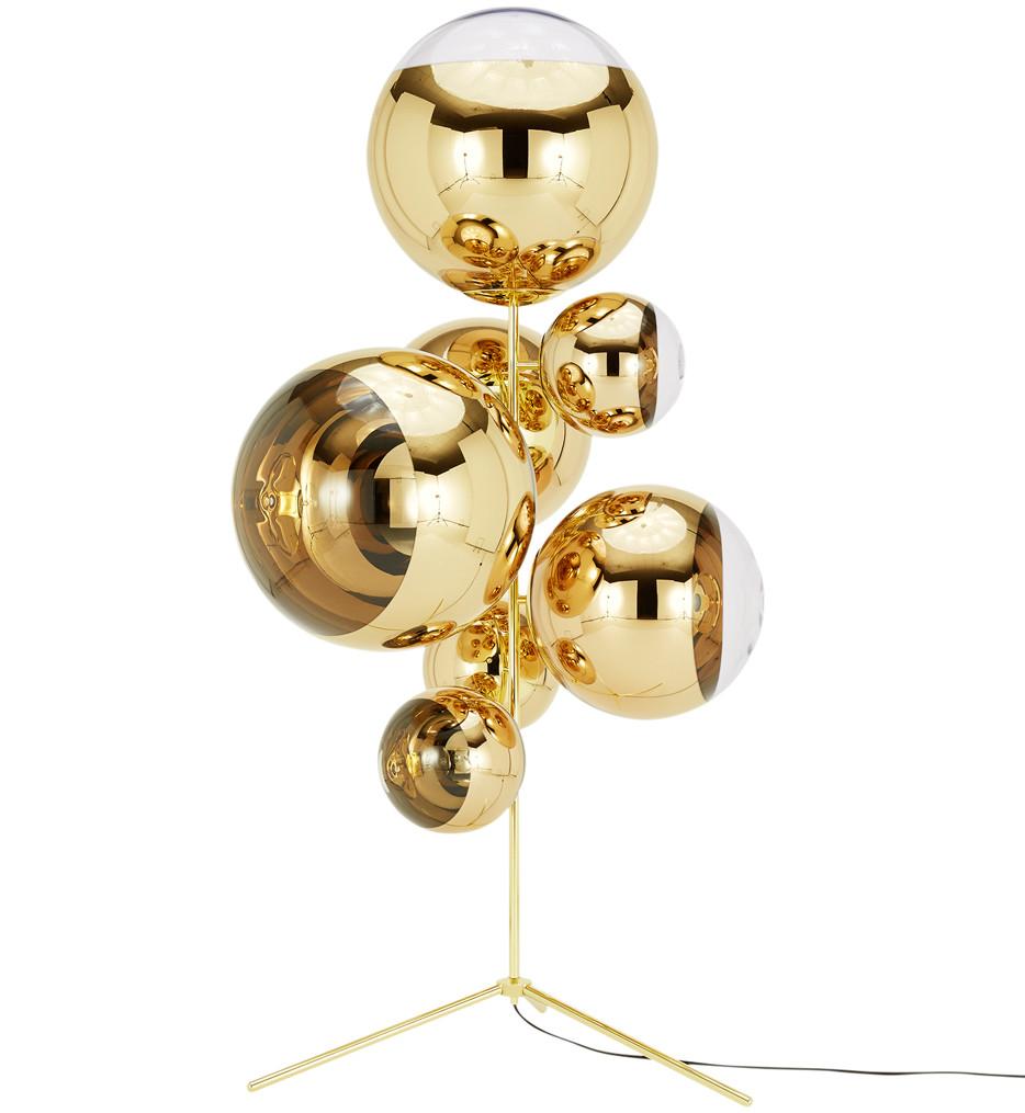 Tom Dixon - MBBSC01G-FUSM - Mirror Ball Gold Stand Chandelier
