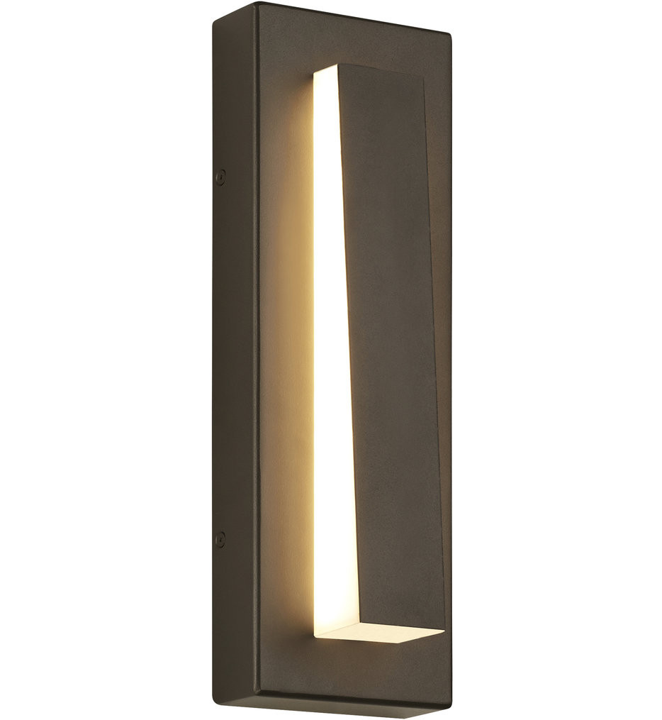 Tech Lighting - Aspen Wedge 15 Inch Outdoor Wall Sconce
