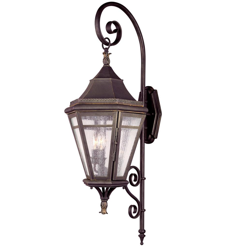 Troy Lighting - B1272NR - Morgan Hill Natural Rust 3 Light Outdoor Wall Lantern