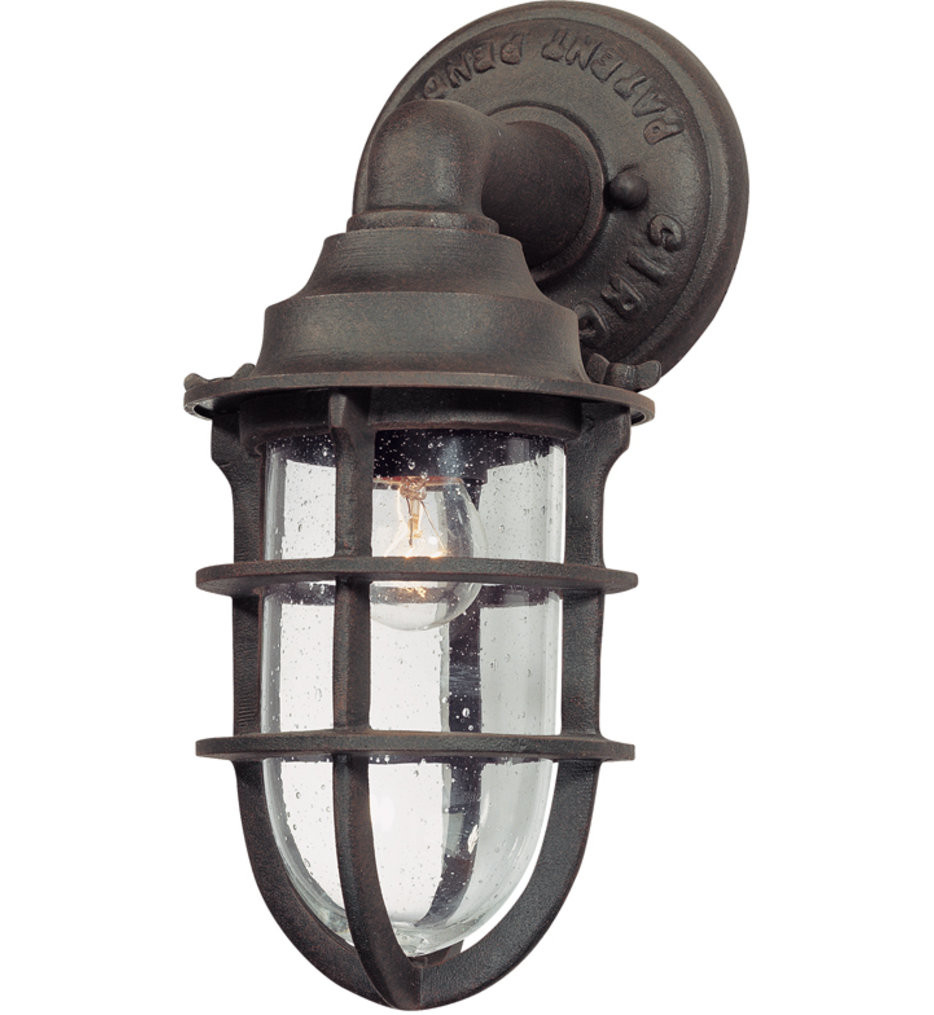 Troy Lighting - B1865NR - Wilmington Nautical Rust 12 Inch 1 Light Outdoor Wall Lantern