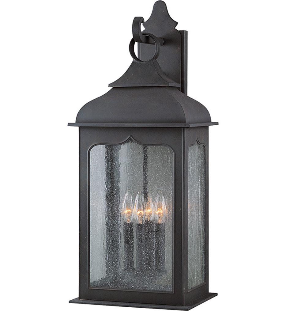 Troy Lighting - B2013CI - Henry Street Colonial Iron 4 Light Outdoor Wall Lantern