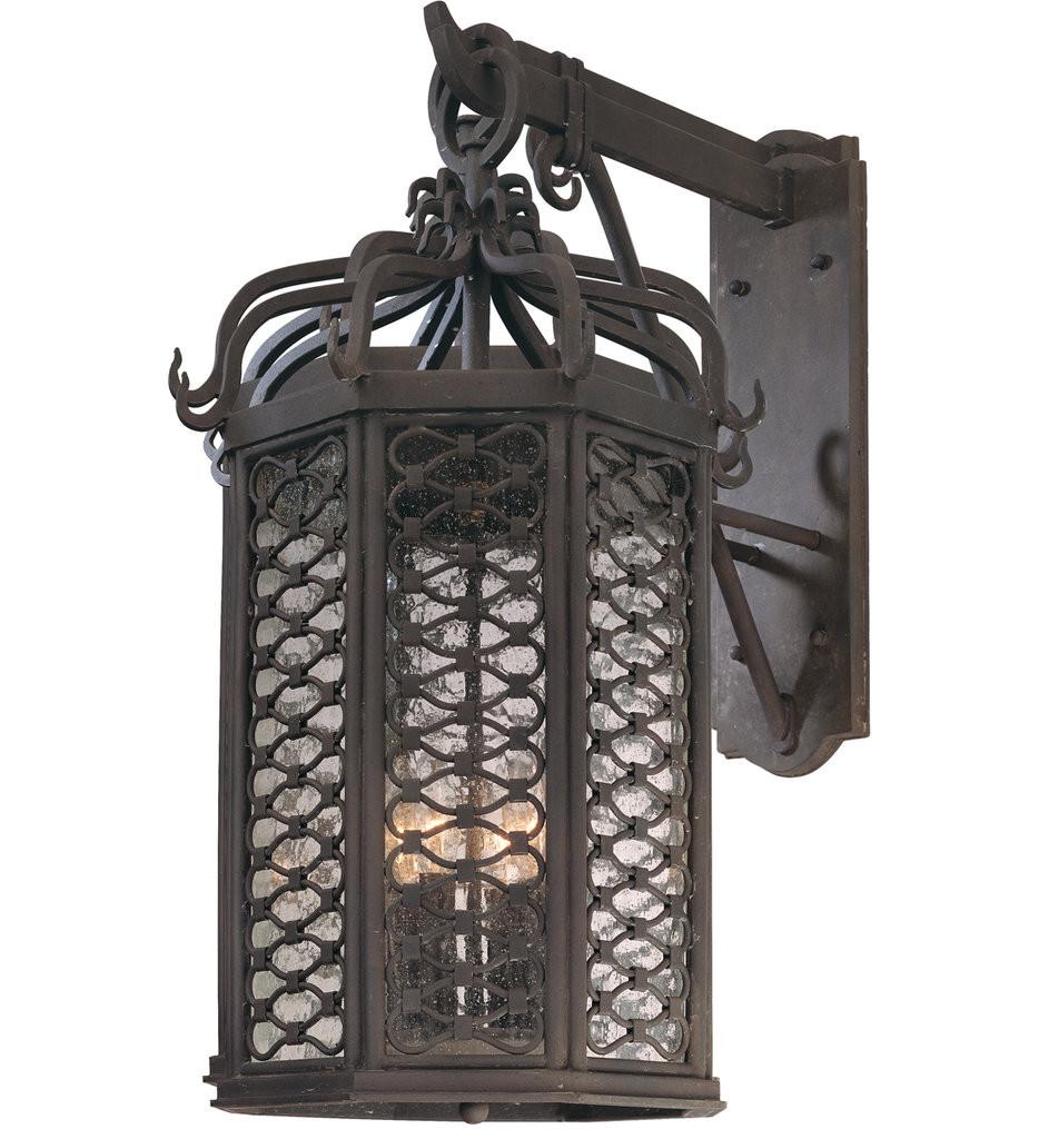 Troy Lighting - B2374OI - Los Olivos Old Iron 4 Light Outdoor Wall Lantern