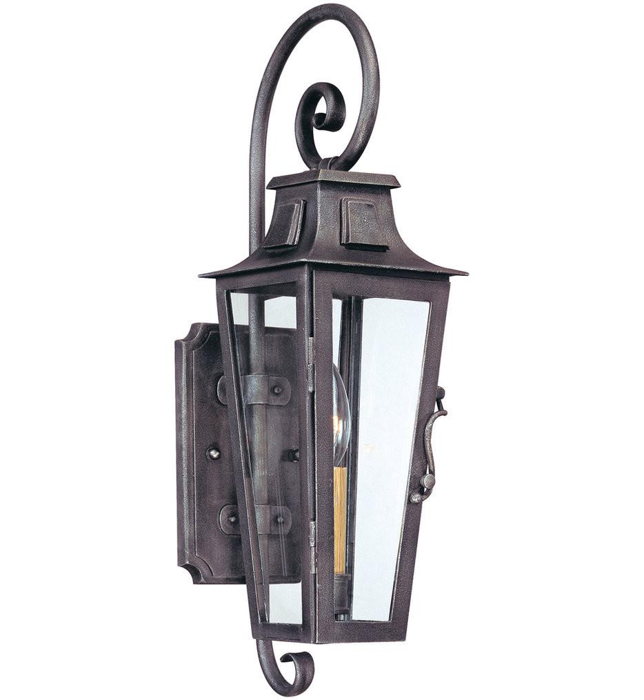 Troy Lighting - B2961 - Parisian Square Aged Pewter 1 Light Outdoor Wall Lantern