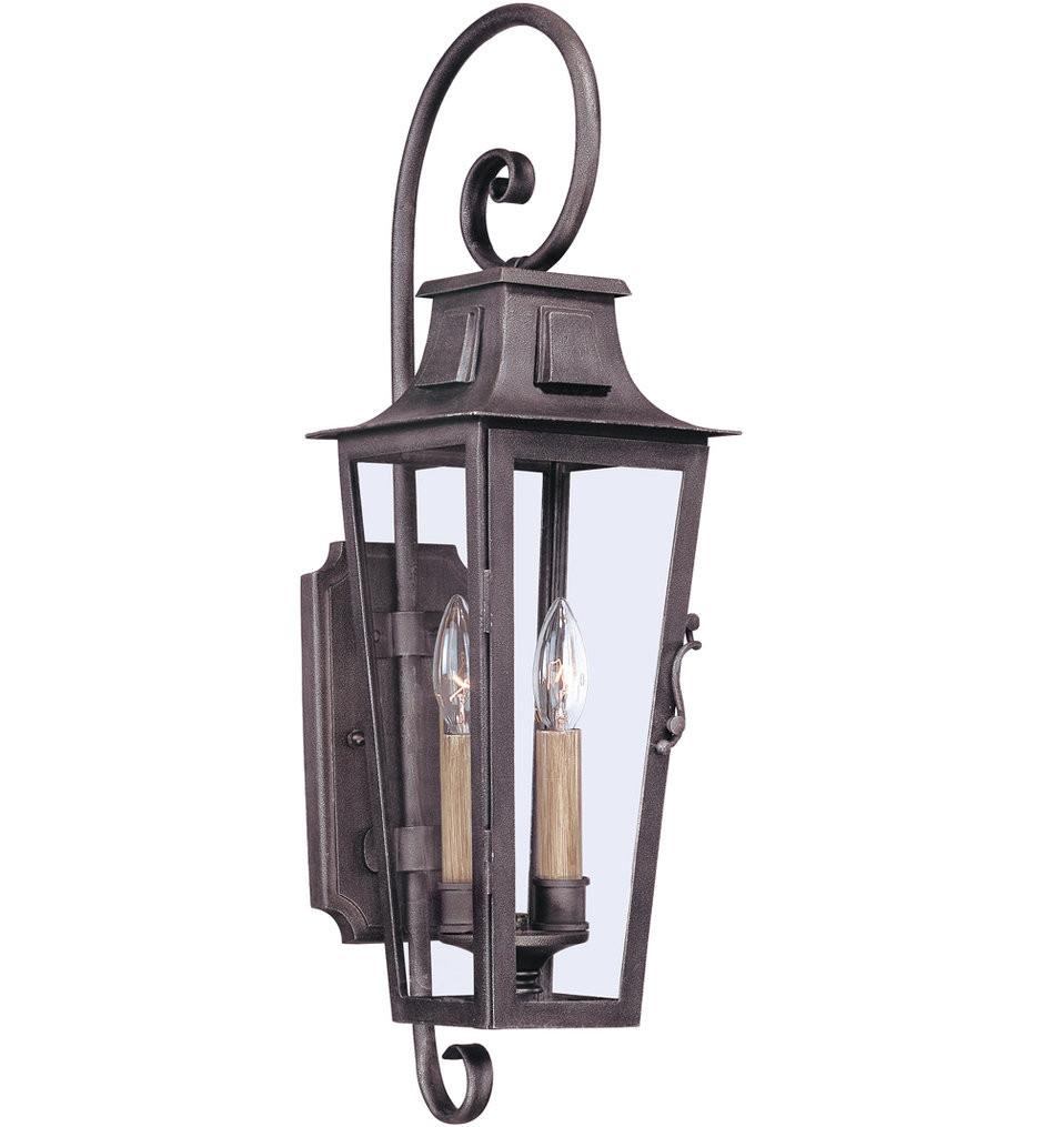Troy Lighting - B2962 - Parisian Square Aged Pewter 2 Light Outdoor Wall Lantern