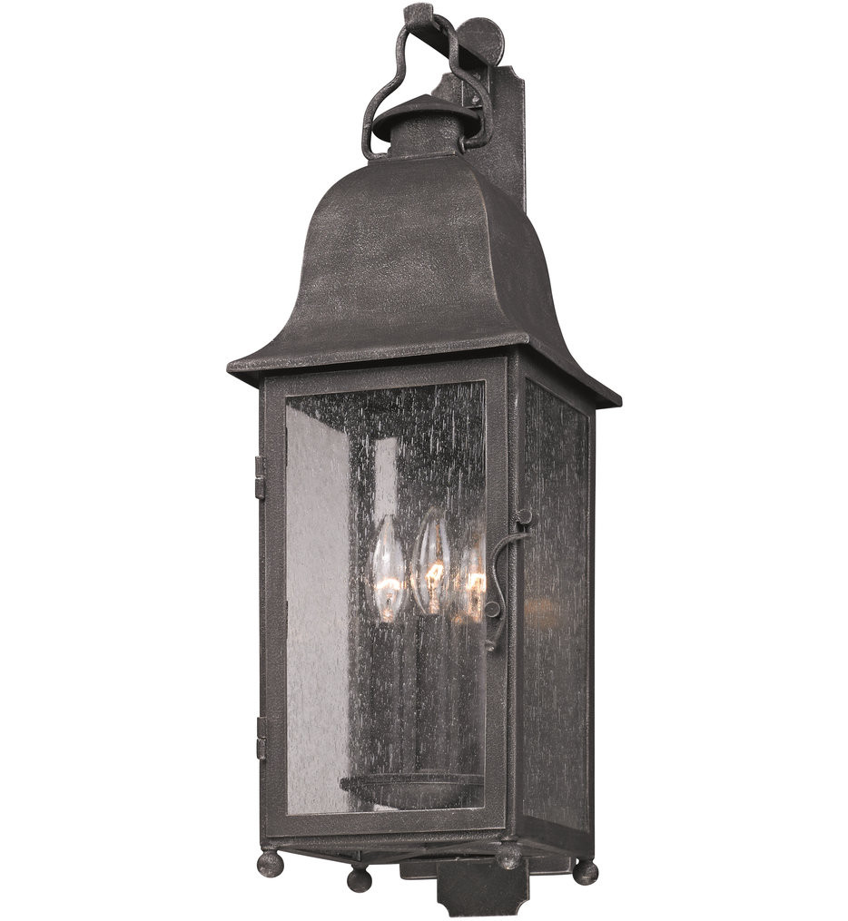 Troy Lighting - B3212 - Larchmont Aged Pewter 3 Light Outdoor Wall Lantern