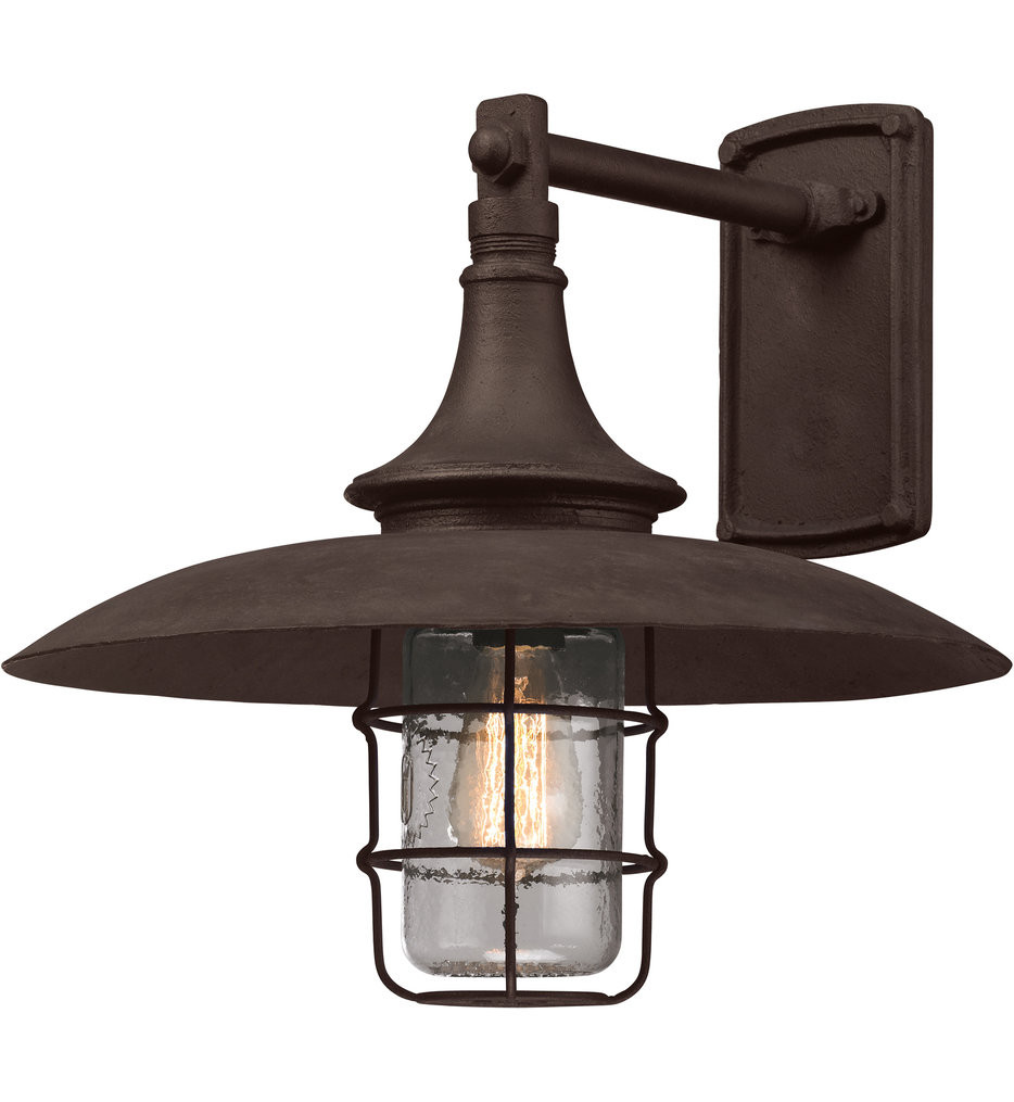 Troy Lighting - B3222 - Allegheny Centennial Rust 15.5 Inch Outdoor Wall Lantern