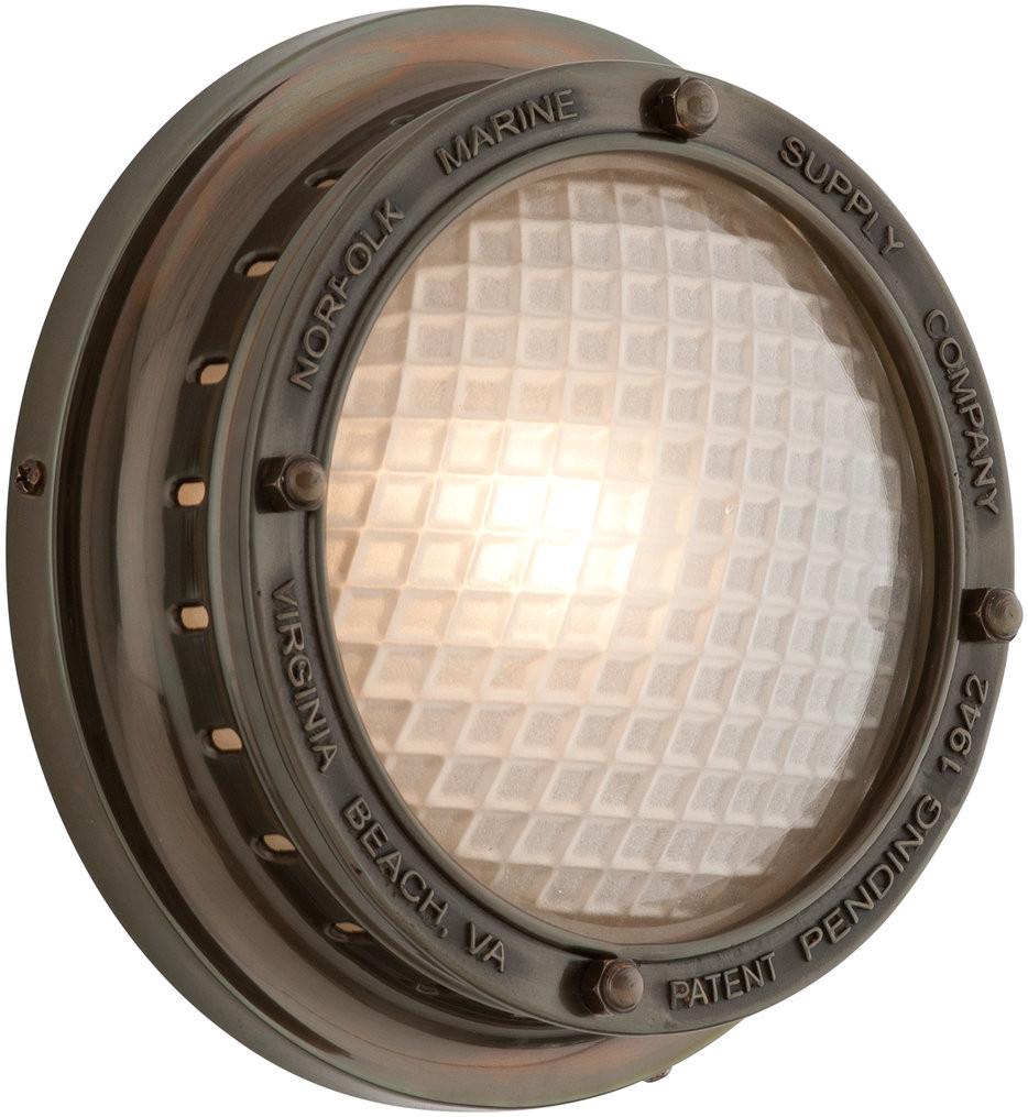 Troy Lighting - B3261 - Norfolk Marine Bronze 8 Inch 1 Light Outdoor Wall Lantern