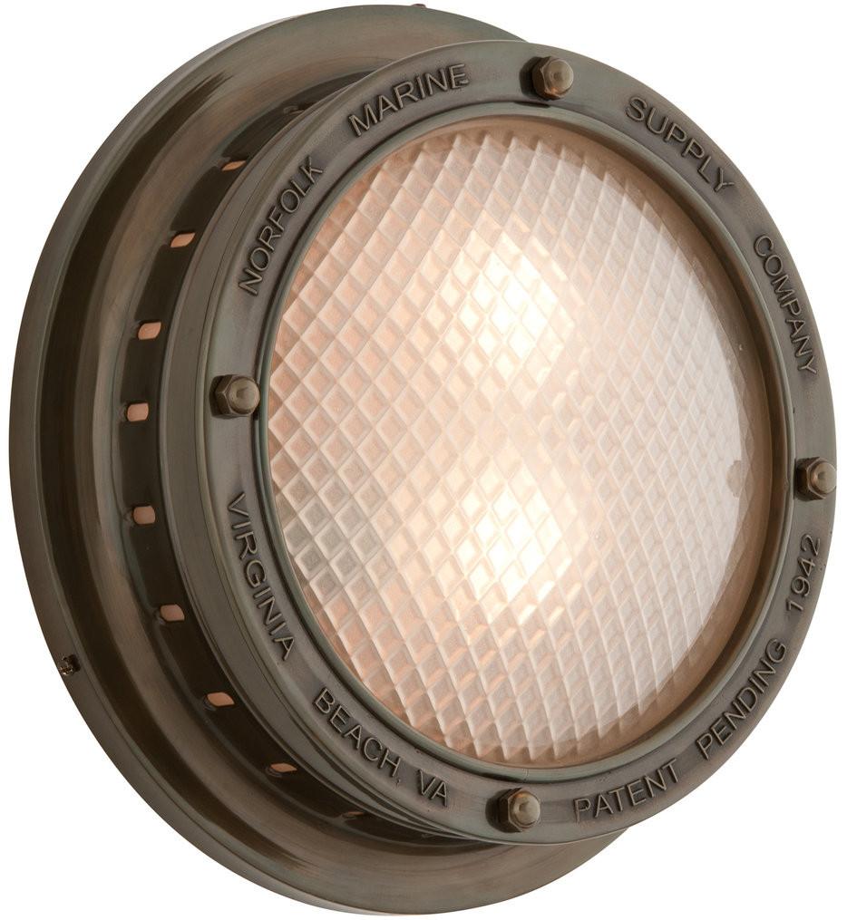 Troy Lighting - B3263 - Norfolk Marine Bronze 13 Inch 2 Light Outdoor Wall Lantern