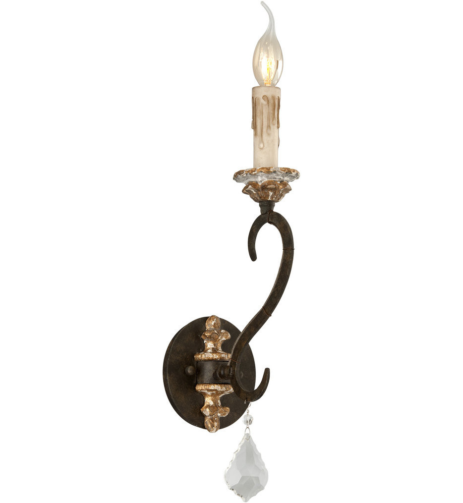 Troy Lighting - B3511 - Bordeaux Parisian Bronze 1 Light Wall Sconce