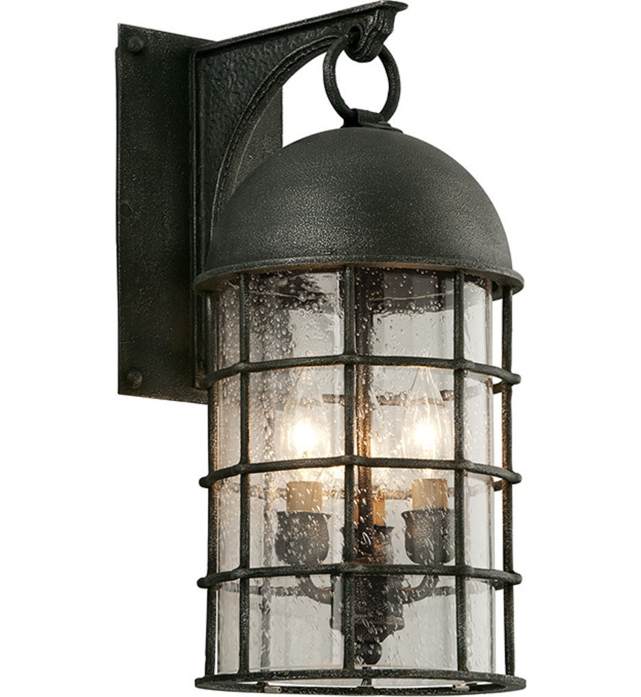 Troy Lighting - B4432 - Charlemagne Aged Pewter 3 Light Outdoor Wall Lantern