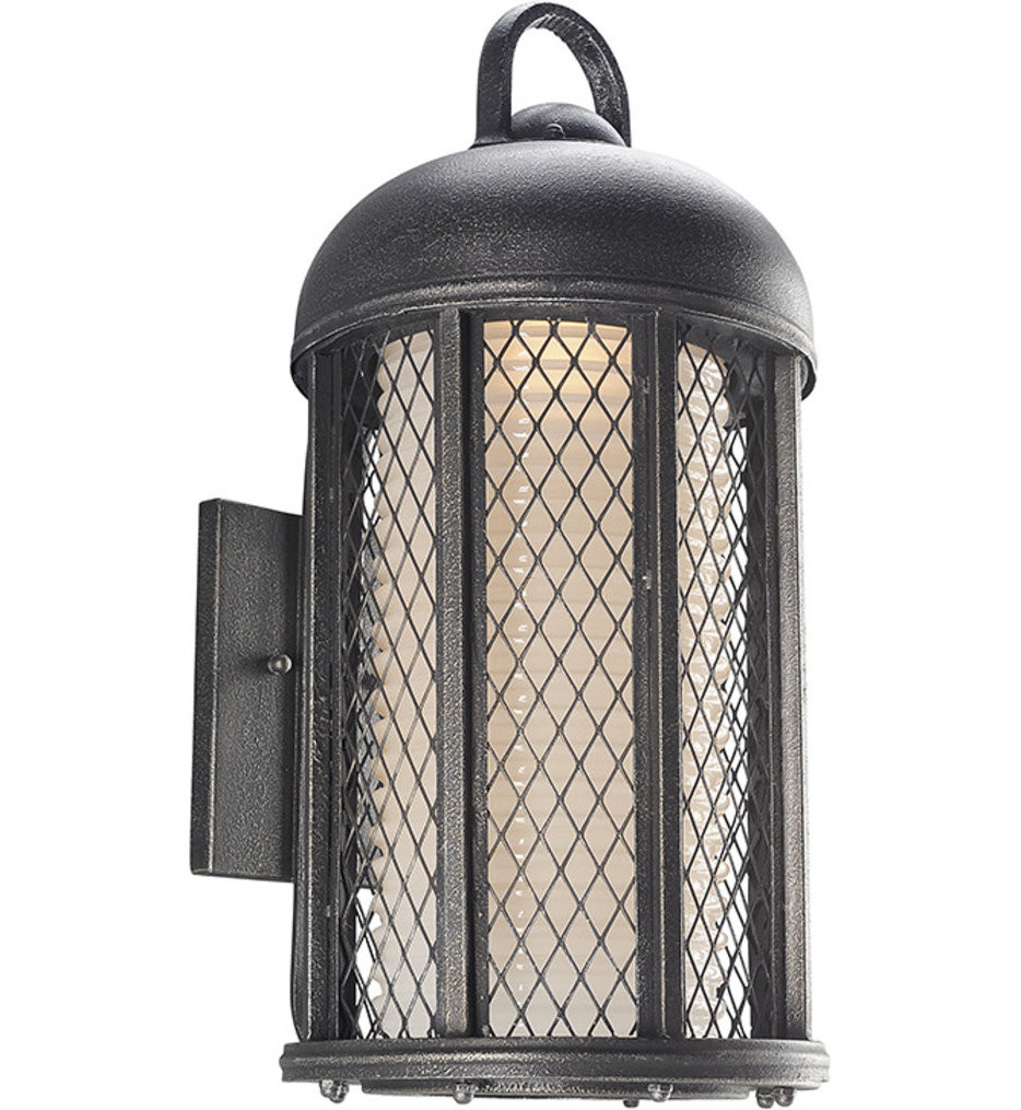Troy Lighting - B4483 - Signal Hill Aged Silver 21.25 Inch 1 Light Outdoor Wall Lantern