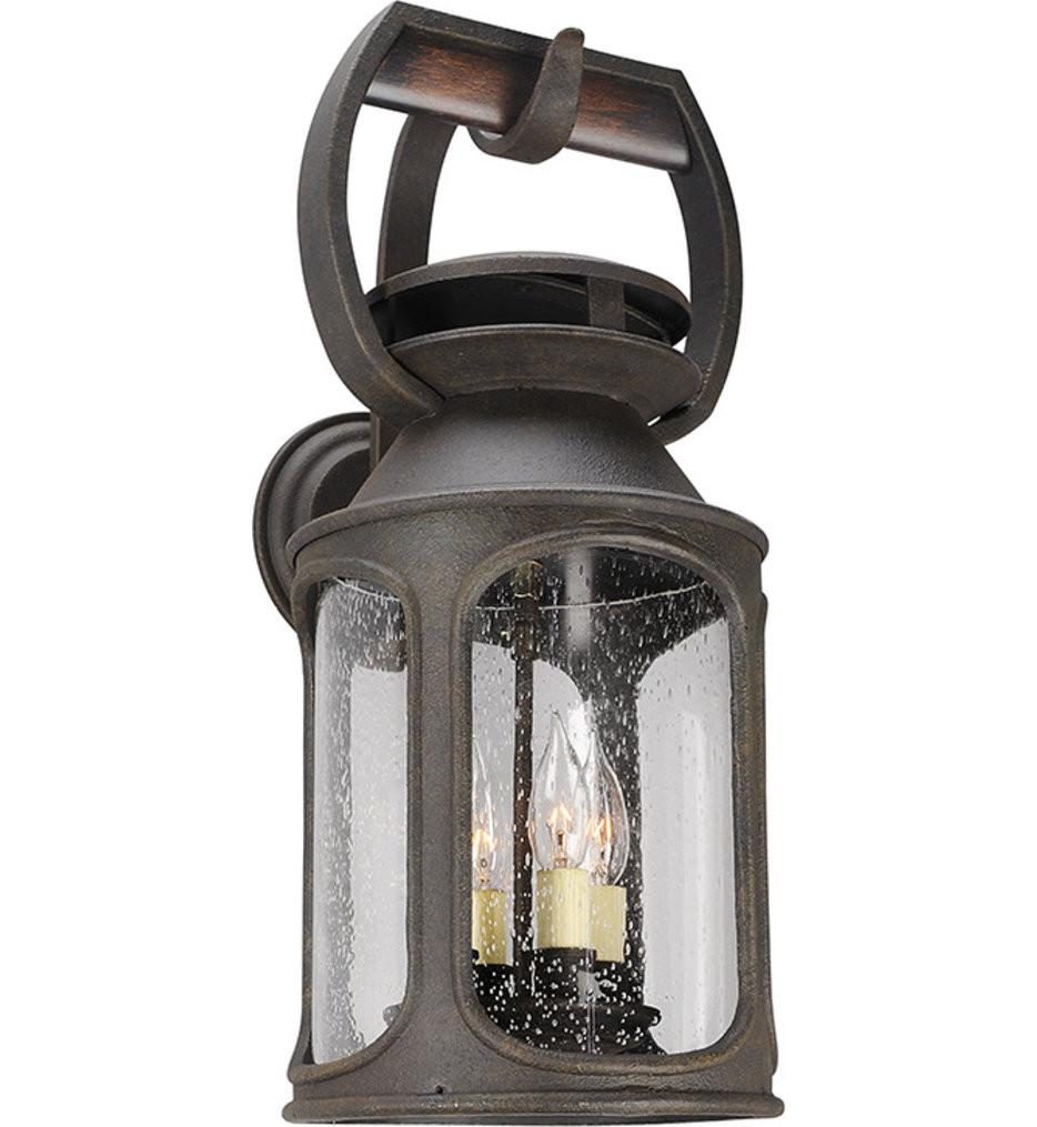 Troy Lighting - B4513 - Old Trail Centennial Rust 4 Light Outdoor Wall Lantern