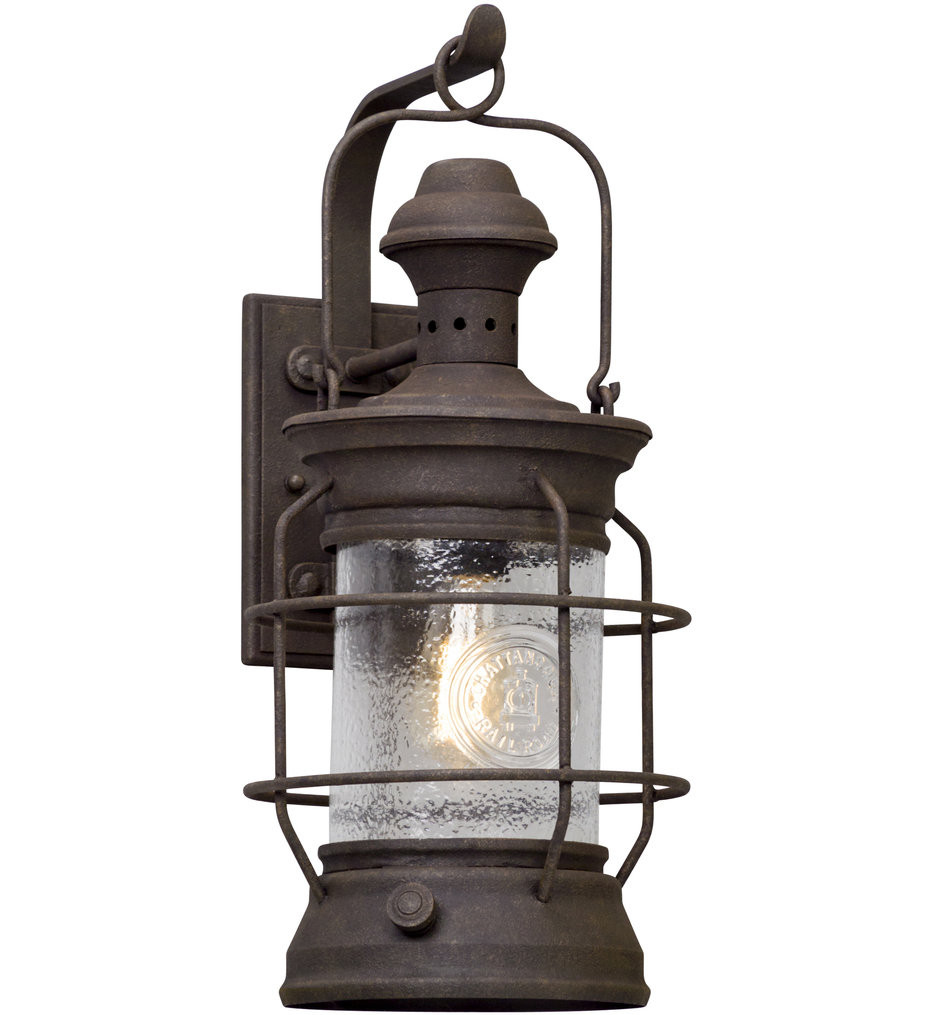 Troy Lighting - B5053 - Atkins Centennial Rust 22 Inch Outdoor Wall Lantern