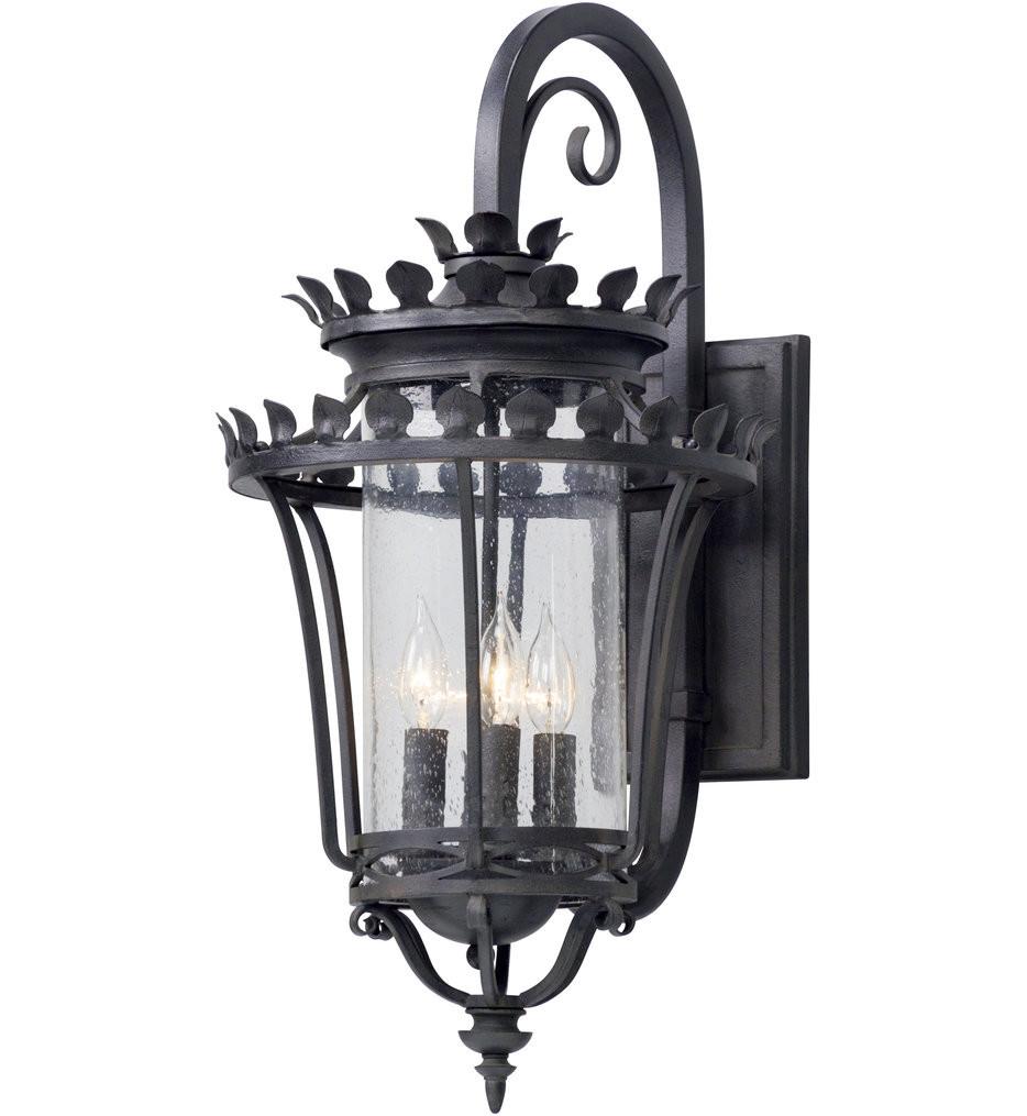 Troy Lighting - B5133 - Greystone Forged Iron 4 Light Outdoor Wall Lantern