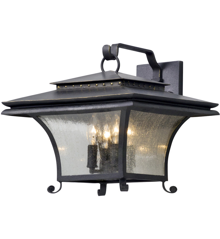 Troy Lighting - B5143 - Grammercy Forged Iron 13.25 Inch 4 Light Outdoor Wall Lantern