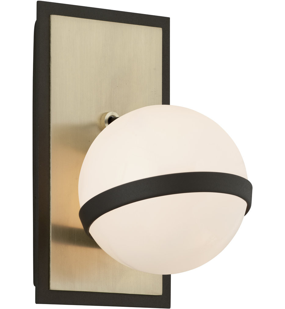 Troy Lighting - B5301 - Ace Textured Bronze with Brushed Brass 1 Light Wall Sconce