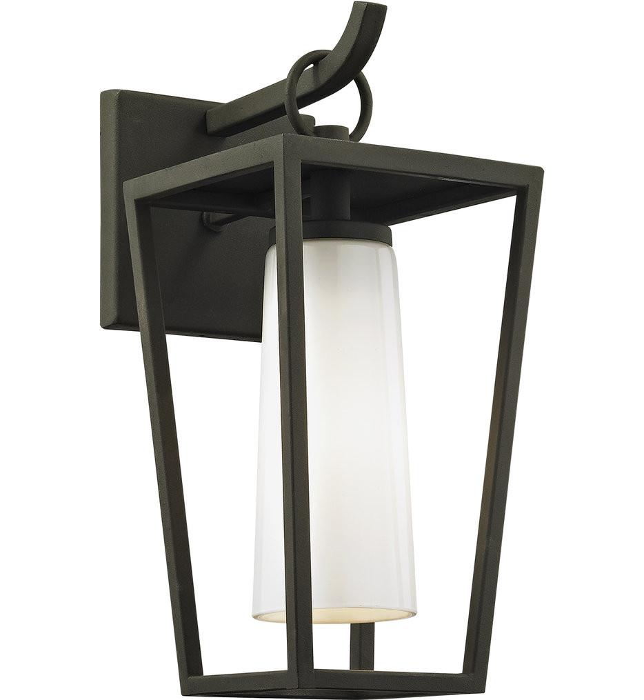Troy Lighting - B6351 - Mission Beach Textured Black 13.5 Inch Outdoor Wall Lantern