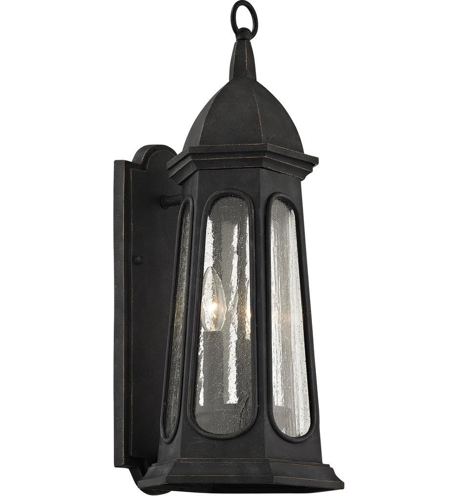 Troy Lighting - B6362 - Astor Vintage Iron 3 Light Outdoor Wall Lantern