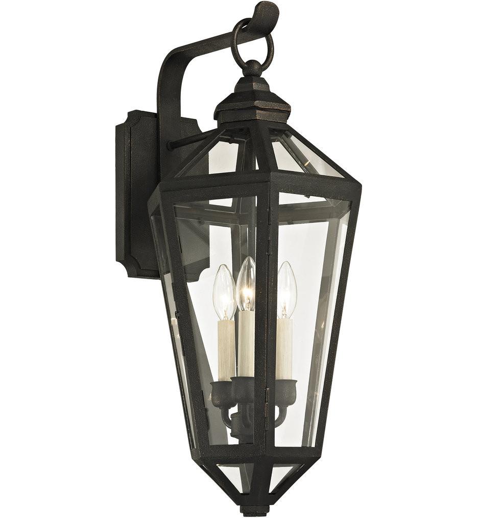 Troy Lighting - B6373 - Calabasas Vintage Bronze 3 Light Outdoor Wall Lantern