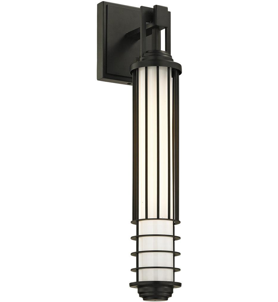 Troy Lighting - B6402 - Powell Street Bronze 21 Inch 1 Light Outdoor Wall Sconce