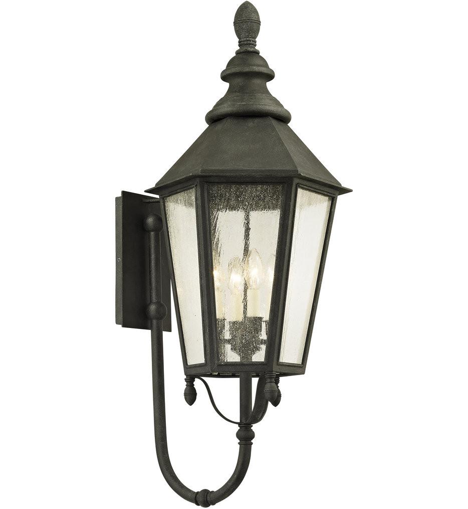Troy Lighting - B6434 - Savannah Vintage Iron 4 Light Outdoor Wall Lantern