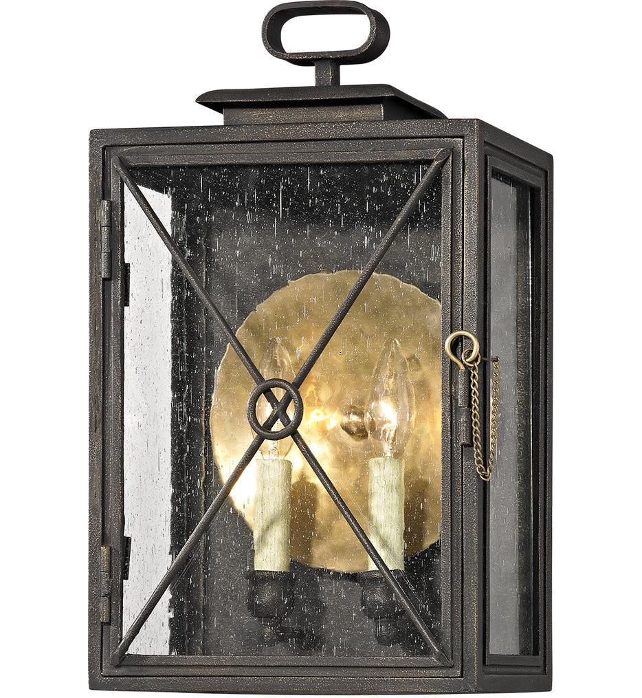 Troy Lighting - B6443 - Randolph Vintage Bronze 2 Light Outdoor Wall Lantern