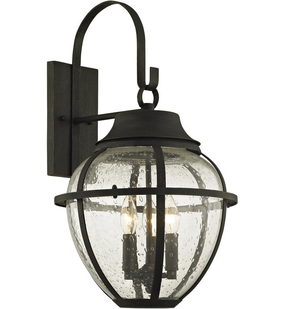 Troy Lighting - B6452 - Bunker Hill Vintage Bronze 3 Light Outdoor Wall Lantern