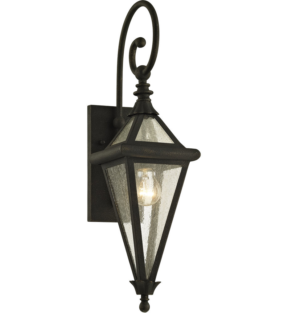 Troy Lighting - B6471 - Geneva Vintage Bronze 1 Light Outdoor Wall Lantern