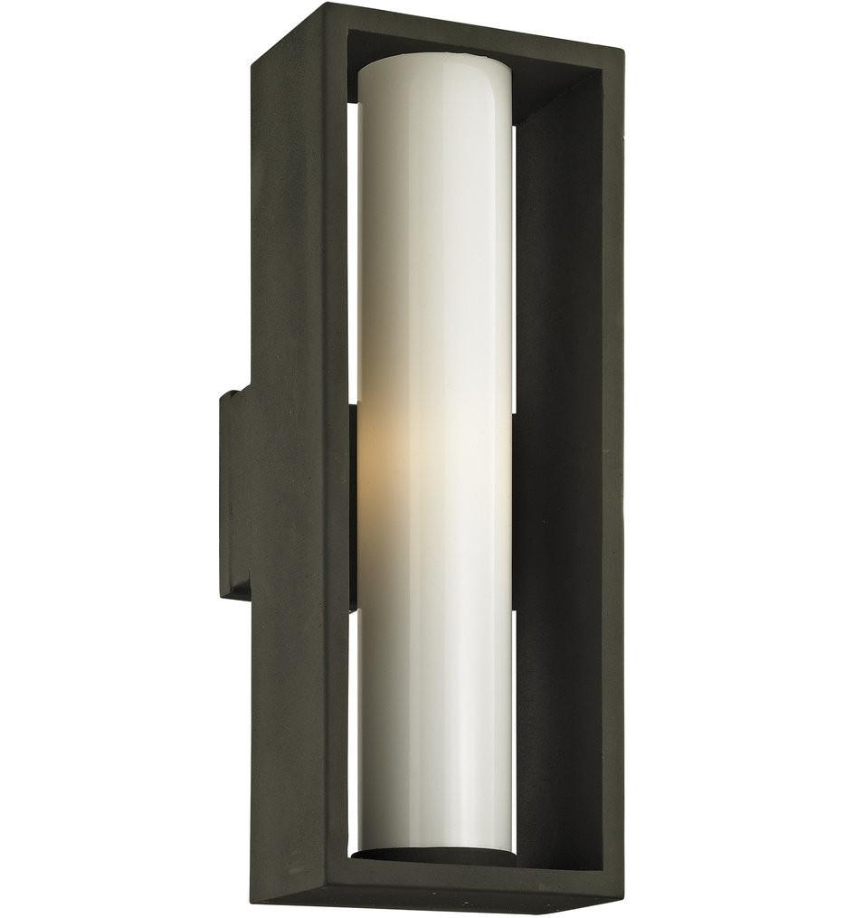 Troy Lighting - B6493 - Mondrian Textured Bronze 23.25 Inch Outdoor Wall Lantern
