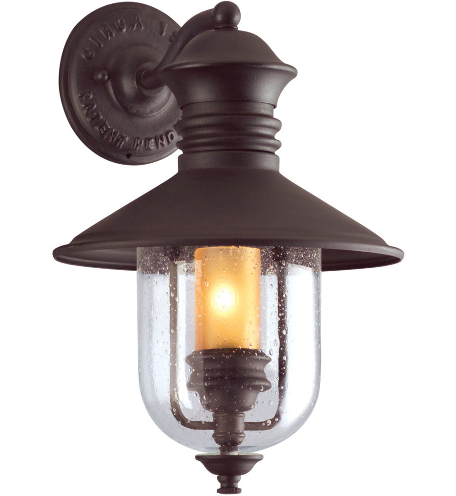 Troy Lighting - B9360NB - Old Town Natural Bronze 16 Inch Outdoor Wall Lantern